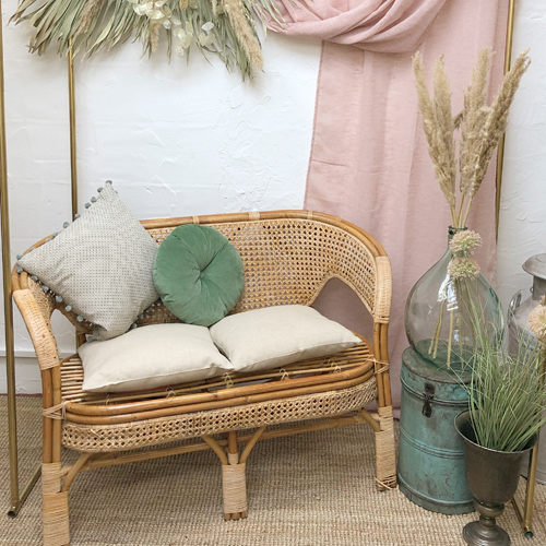 Wedding chillout cane sofa