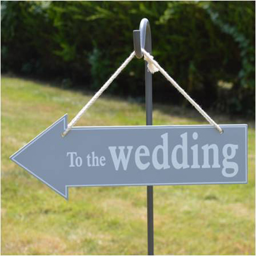 Wooden to the wedding sign