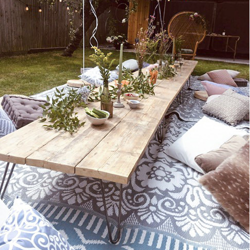 Rustic low coffee tables