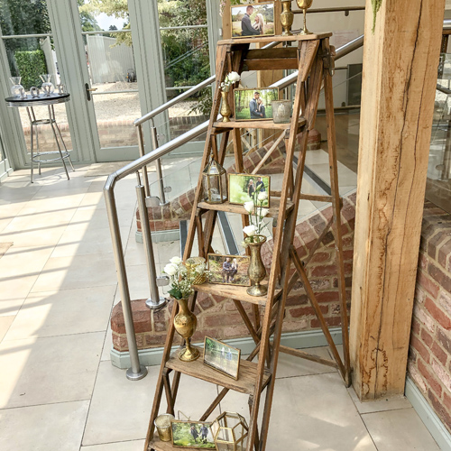 Rustic ladder display
