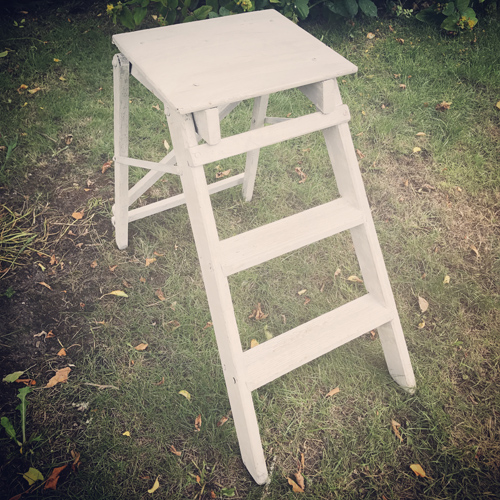 Small white wooden ladder