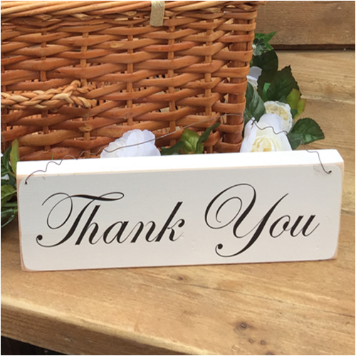 Wooden thank you sign postbox guestbook wedding