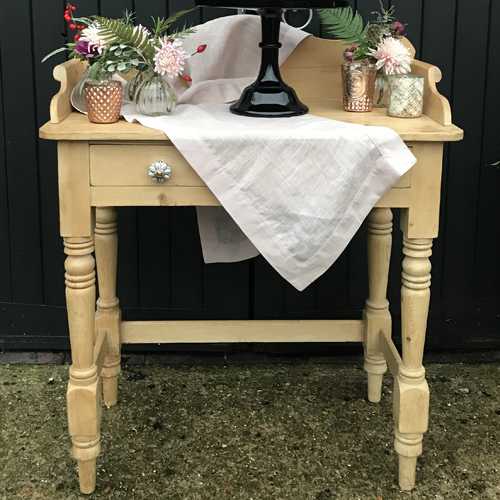 Rustic pine washstand