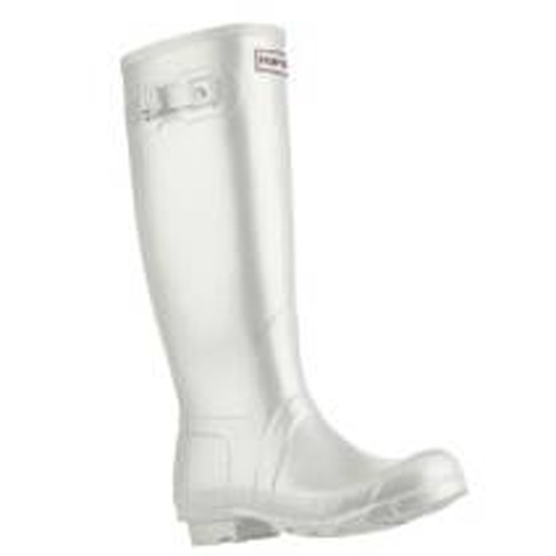 White hunter wellies
