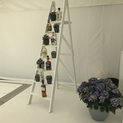 White wooden display ladder